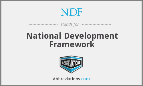 NDF - National Development Framework