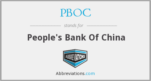 What does PBOC stand for?