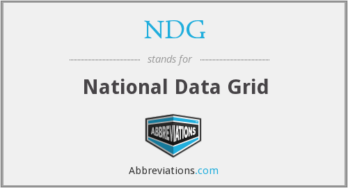 NDG - National Data Grid