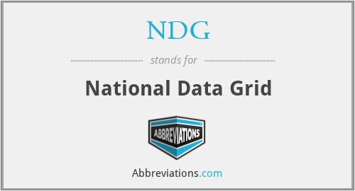 NDG - National Data Grid