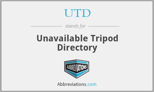 UTD - Unavailable Tripod Directory