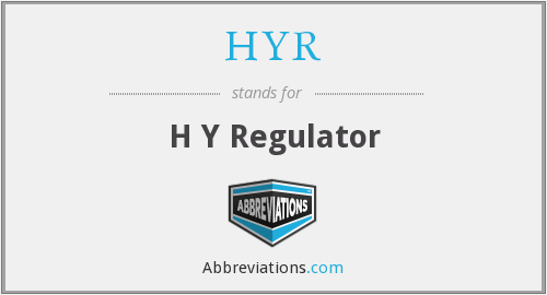 What does HYR stand for?