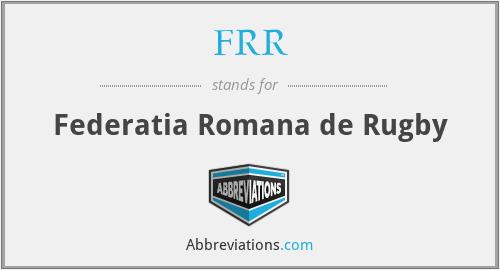 FRR - Federatia Romana de Rugby