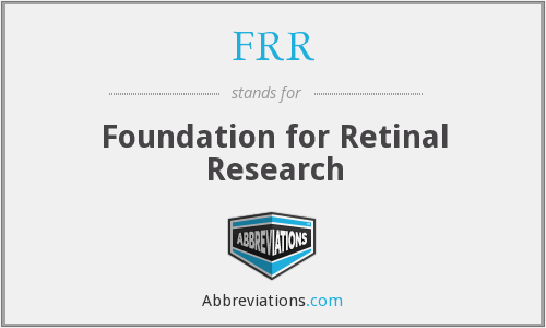 FRR - Foundation for Retinal Research