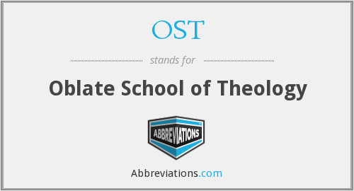 OST - Oblate School of Theology