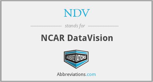 NDV - NCAR DataVision