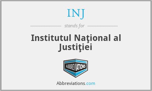INJ - Institutul Naţional al Justiţiei