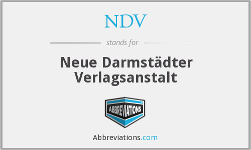 NDV - Neue Darmstädter Verlagsanstalt