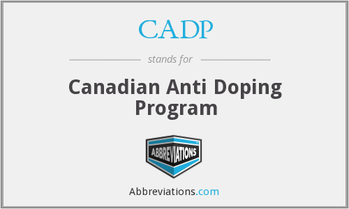 CADP - Canadian Anti Doping Program