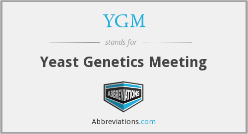 YGM - Yeast Genetics Meeting