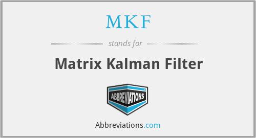 MKF - Matrix Kalman Filter