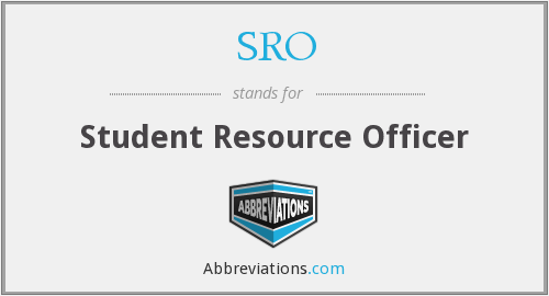 SRO - Student Resource Officer