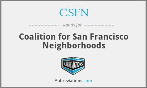 CSFN - Coalition for San Francisco Neighborhoods