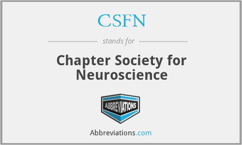 CSFN - Chapter Society for Neuroscience