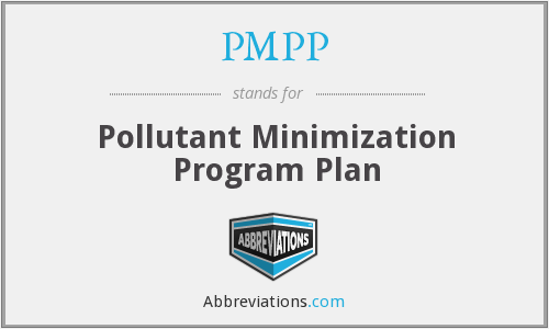 PMPP - Pollutant Minimization Program Plan