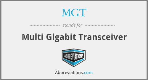 MGT - Multi Gigabit Transceiver