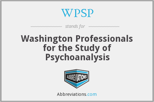 WPSP - Washington Professionals for the Study of Psychoanalysis