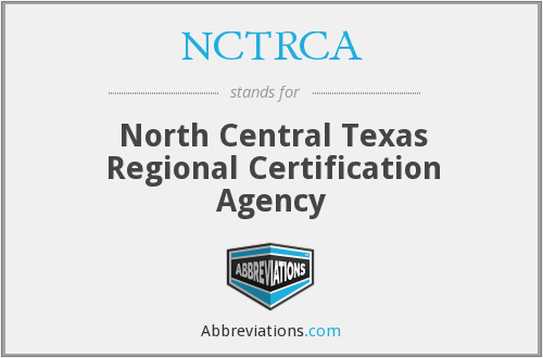 What does NCTRCA stand for?
