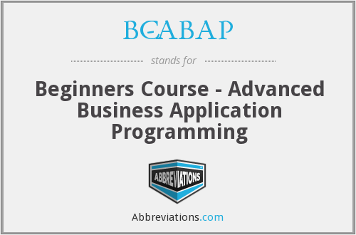 What does BC-ABAP stand for?