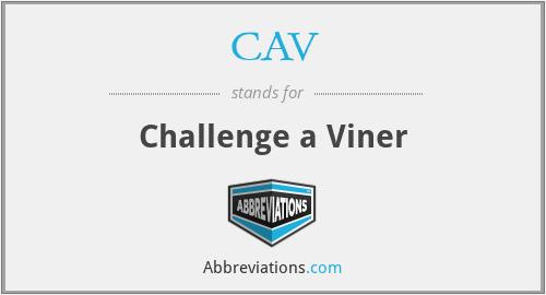 CAV - Challenge a Viner