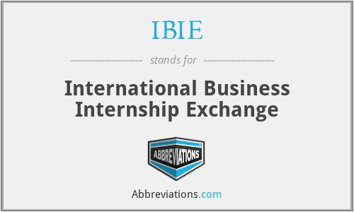 IBIE - International Business Internship Exchange