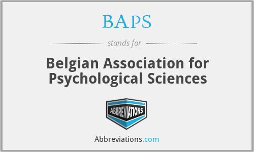 BAPS - Belgian Association for Psychological Sciences