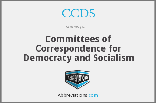 CCDS - Committees of Correspondence for Democracy and Socialism