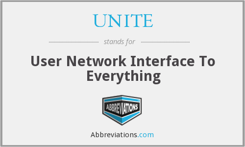 UNITE - User Network Interface To Everything