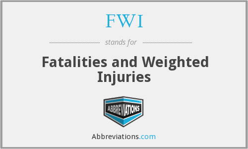 FWI - Fatalities and Weighted Injuries