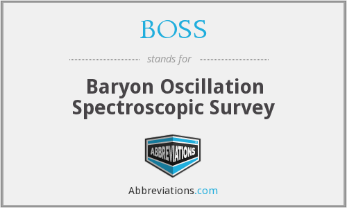 BOSS - Baryon Oscillation Spectroscopic Survey