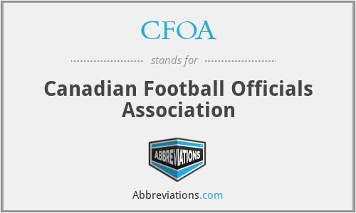 CFOA - Canadian Football Officials Association