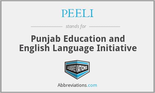 PEELI - Punjab Education and English Language Initiative