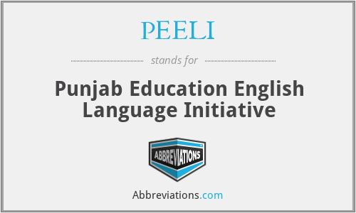 PEELI - Punjab Education English Language Initiative