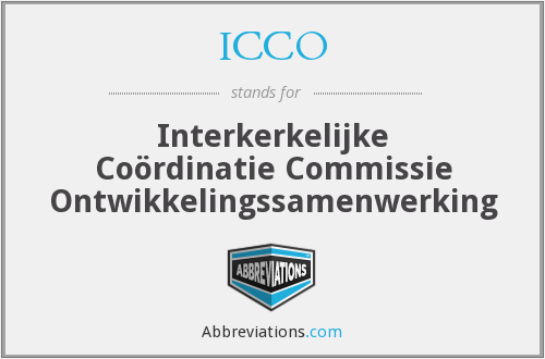 What does ICCO stand for?