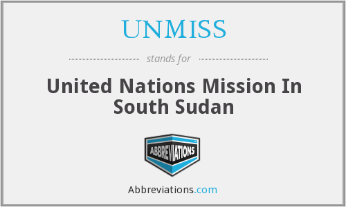 What does UNMISS stand for?