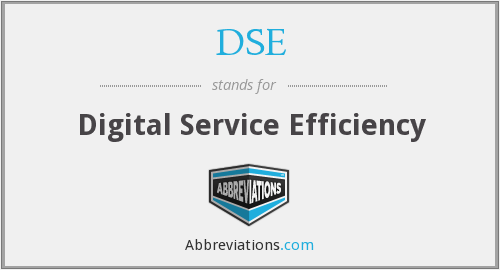 DSE - Digital Service Efficiency
