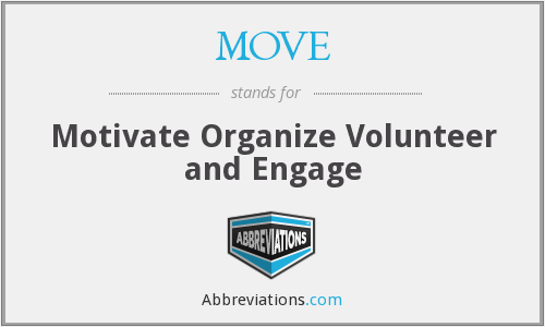 MOVE - Motivate Organize Volunteer and Engage