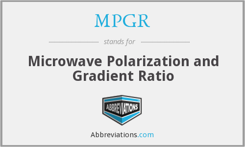 MPGR - Microwave Polarization and Gradient Ratio