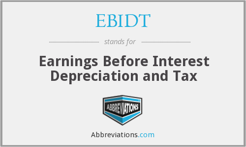 EBIDT - Earnings Before Interest Depreciation and Tax