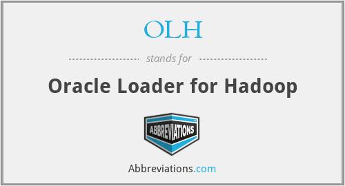 OLH - Oracle Loader for Hadoop