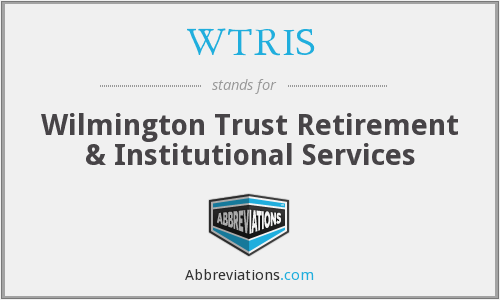 What does WTRIS stand for?