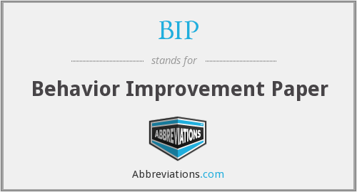 What does BIP stand for?
