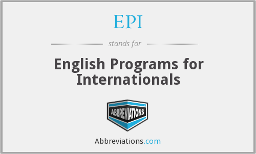EPI - English Programs for Internationals