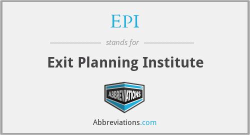EPI - Exit Planning Institute