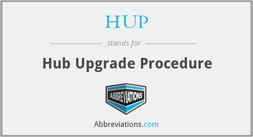 HUP - Hub Upgrade Procedure