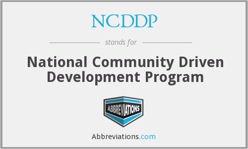What does NCDDP stand for?