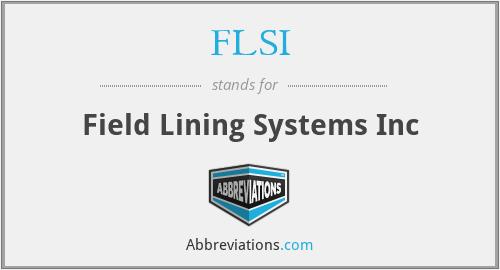 FLSI - Field Lining Systems Inc