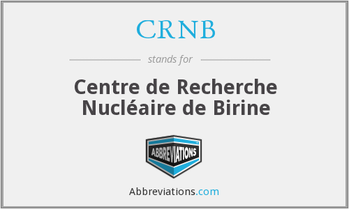 What does CRNB stand for?