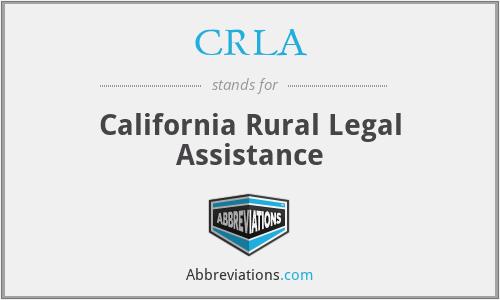 CRLA - California Rural Legal Assistance