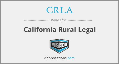CRLA - California Rural Legal